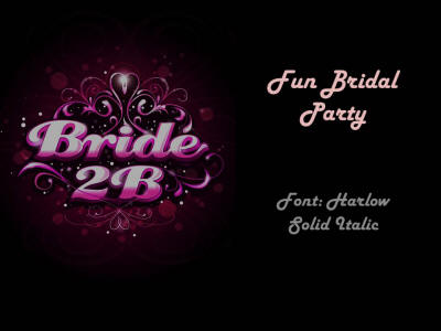 bridal party wedding template