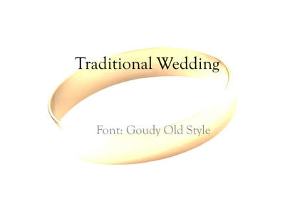 traditional wedding presentation template