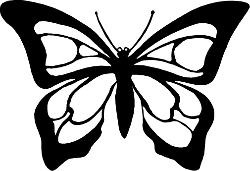 Black & White Butterfly Tattoos
