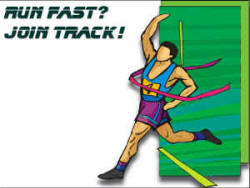 free school track and field printable poster